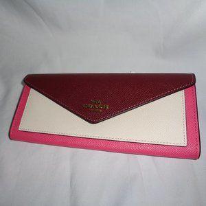 Coach 12122 Color Block Soft Wallet Clutch